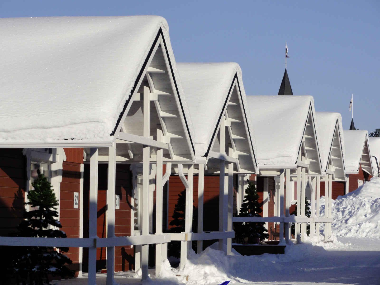 Finlande - Laponie - Rovaniemi - Les Chalets du Village du Père Noël